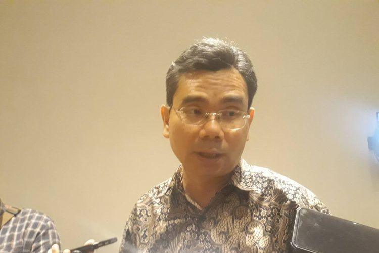 Direktur Eksekutif LSI Djayadi Hanan di kawasan Jakarta Pusat, Minggu (3/11/2019).