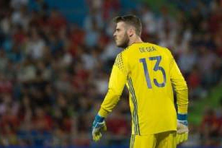 David De Gea dipercaya sebagai kiper utama Spanyol pada laga versus Rep. Ceko, Senin (13/6/2016).