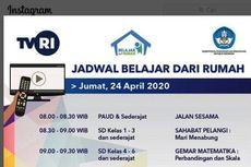 Ini Jadwal Belajar dari Rumah di TVRI, Jumat 24 April 2020