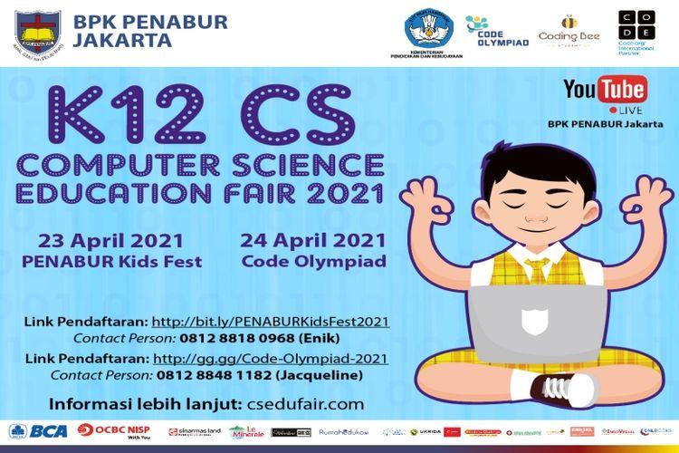 BPK PENABUR Jakarta kenalkan pemrogaman sejak usia dini melalui acara K-12 Computer Science Education Fair 2021.