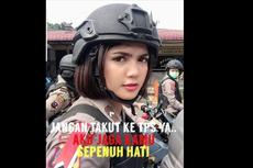 Viral Foto Polwan Vani Simbolon Ajak Pemilih Jangan Golput, Akan Dijaga Sepenuh Hati