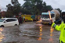 Banjir di Depan Kahatex, Jalan Raya Bandung - Garut Macet Total