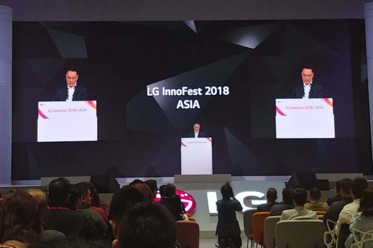 LG Electronics kembali menggelar ajang tahunan LG Innofest 2018 Asia, di Seoul, Korea Selatan pada Rabu (24/4/2018).
