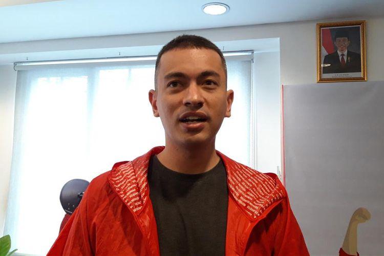 Wakil Ketua DPW PSI DKI Jakarta Rian Ernest, di Kantor DPP PSI DKI Jakarta,Tanah Abang, Jakarta Pusat, Senin (15/7/2019).