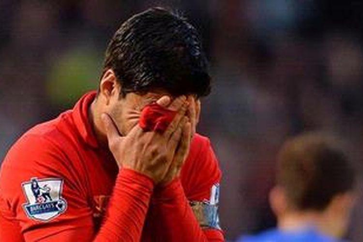 Striker Liverpool dari Uruguay, Luis Suarez.