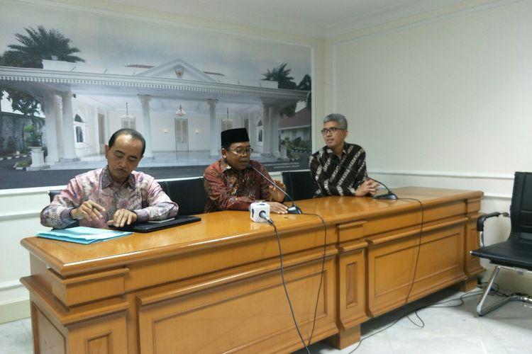 Juru Bicara Wapres Masduki Baidlowi di Istana Wapres, Jakarta