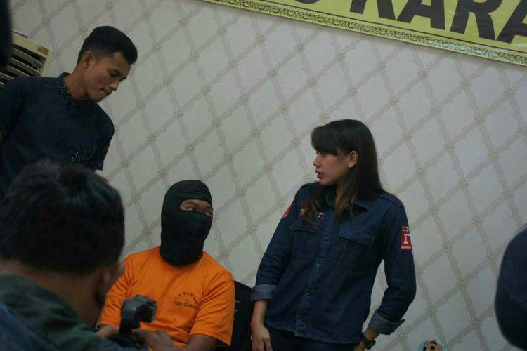 Polisi menetapkan empat tersangka pencabulan bocah di bawah umur di Karawang, Rabu (4/7/2018)
