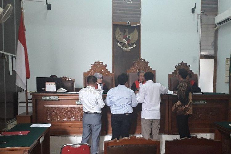 Suasana sidang gugatan 14 caleg Partai Gerindra terhadap partainya di Pengadilan Negeri Jakarta Selatan, Rabu (17/7/2019).