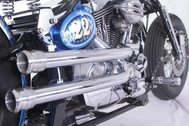 Harley Davidson bergaya Chopper Bobber garapan Geges Garage Pekanbaru