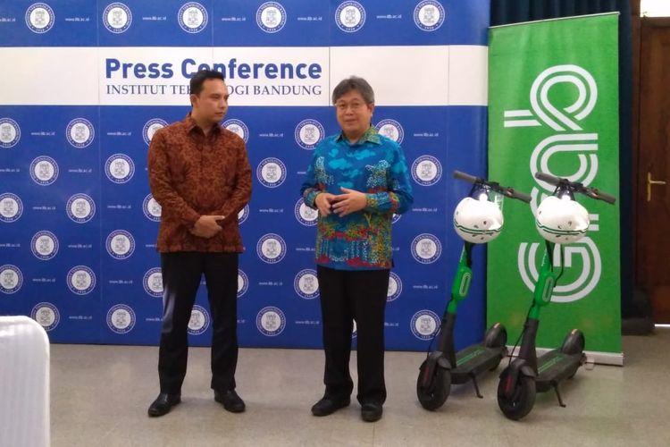 Institut Teknologi Bandung (ITB) bekerjasama dengan Grab dalam pengembangan baterai, IoT, dan artificial intelegence (AI) di Bandung, Selasa (1/10/2019).