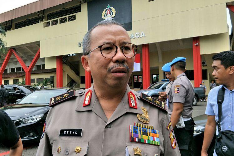 Kadiv Humas Polri Irjen Setyo Wasisto ketika ditemui di Perguruan Tinggi Ilmu Kepolisian (PTIK), Jakarta, Kamis (25/1/2018).