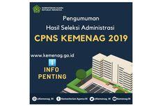 Kemenag Umumkan Hasil Seleksi Administrasi CPNS 2019, Ini Link-nya