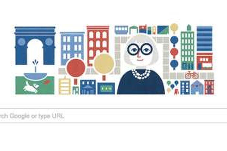 Google Doodle merayakan ulang tahun ke 100 Jane Jacobs