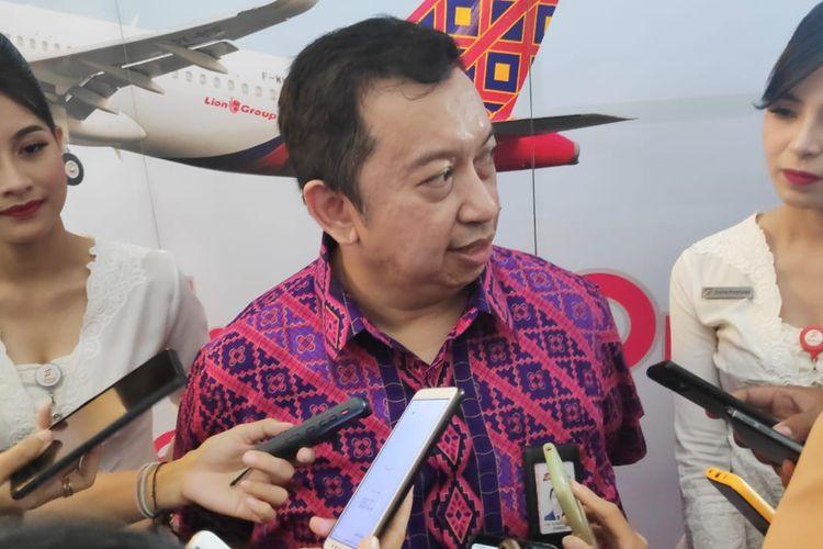 Chief Executive Officer (CEO) Batik Air Capt Achmad Luthfie, di Bandara Soekarno-Hatta, Kamis (6/1/2020).