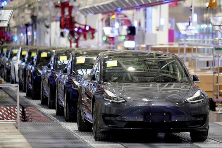 Ilustrasi Pabrik Tesla di AS