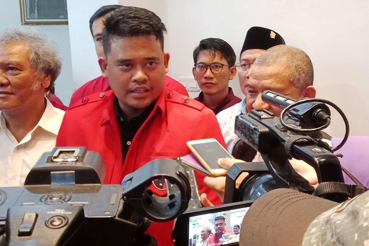 Bobby Nasution mendatangi kantor DPD PDI-P Sumut di Jalan Letjen Djamin Ginting, Kota Medan, Kamis (12/3/2020) petang