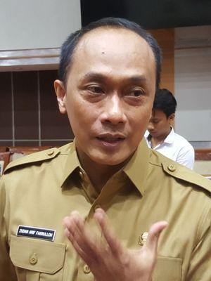 Dirjen Dukcapil, Zudan Arif Fakrulloh, ditemui usai RDP Panja Pengamanan Data Pribadi Komisi 1 DPR, di Gedung Nusantara II, Komplek Parlemen Senayan, Jakarta.