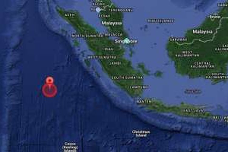 Gempa bumi melanda Mentawai pada Rabu (2/3/2016).