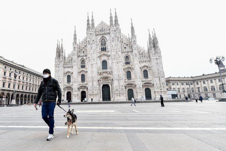 Kota di Italia saat lockdown virus corona