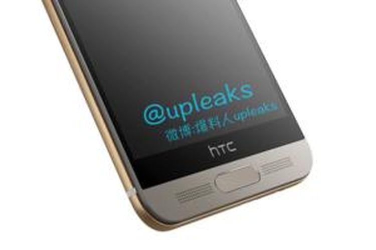 Bocoran foto HTC One M9  yang menampilkan pemindai sidik jari
