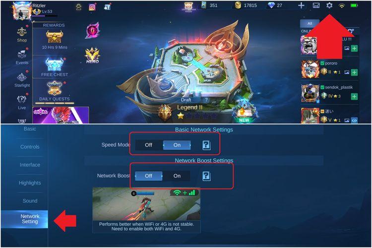Cara agar main Mobile Legends tidak lambat atau lag.