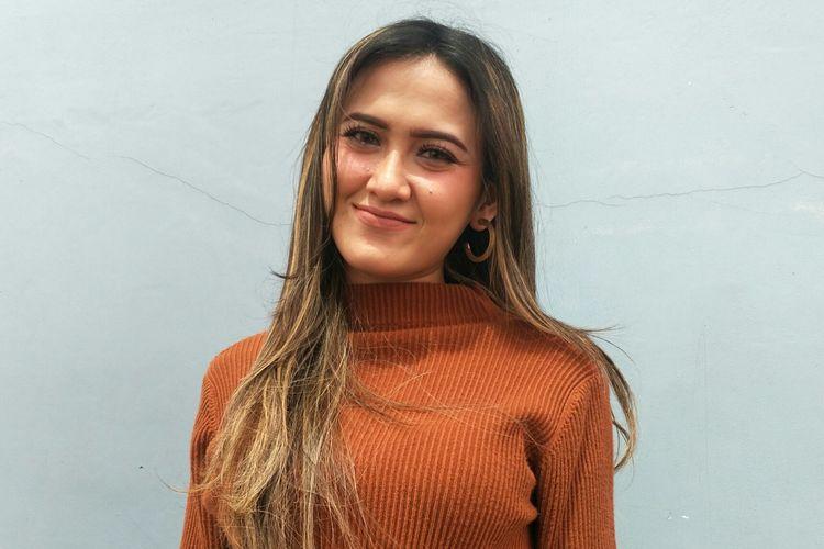 Meggy Diaz saat ditemui di kawasan Tendean, Jakarta Selatan, Jumat (6/3/2020)