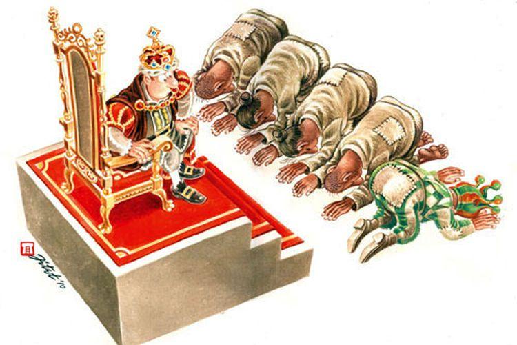 Karikatur karya Jitet Koestana berjudul Di Negeri Dagelan (2013).