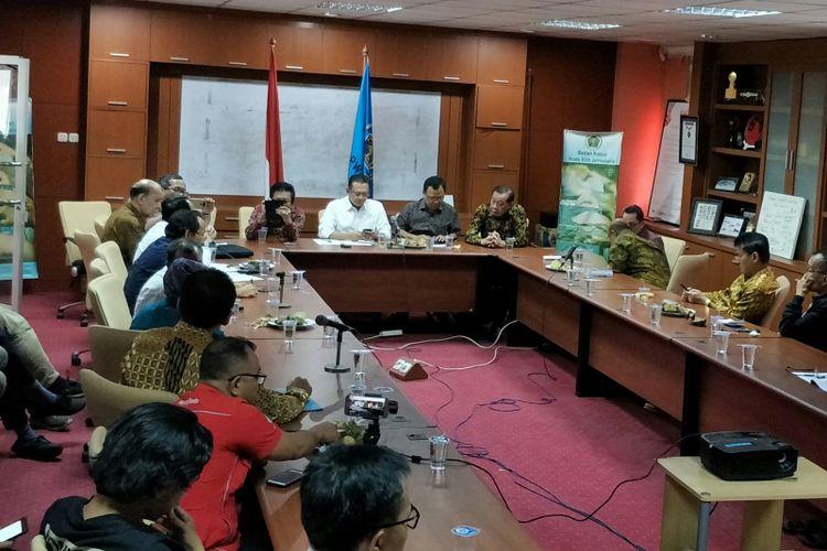 Ketua DPR Bambang Soesatyo di Kantor PWI, Jakarta, Selasa (20/2/2018)