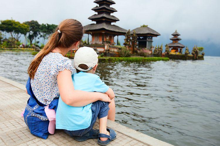 ilustrasi liburan domestik di Bali