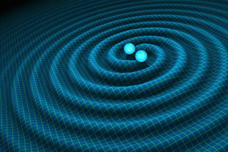 Salah satu peristiwa gelombang adalah pada gravitasi, suatu benda bermassa dapat menghasilkan gelombang gravitasi.