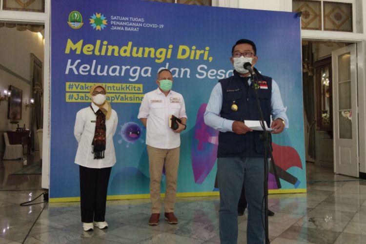 Gubernur Jawa Barat Ridwan Kamil saat menghadiri konferensi pers di Gedung Pakuan, Kota Bandung, beberapa waktu lalu.