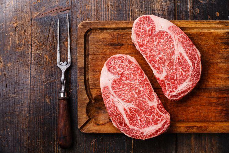 Ilustrasi daging wagyu.