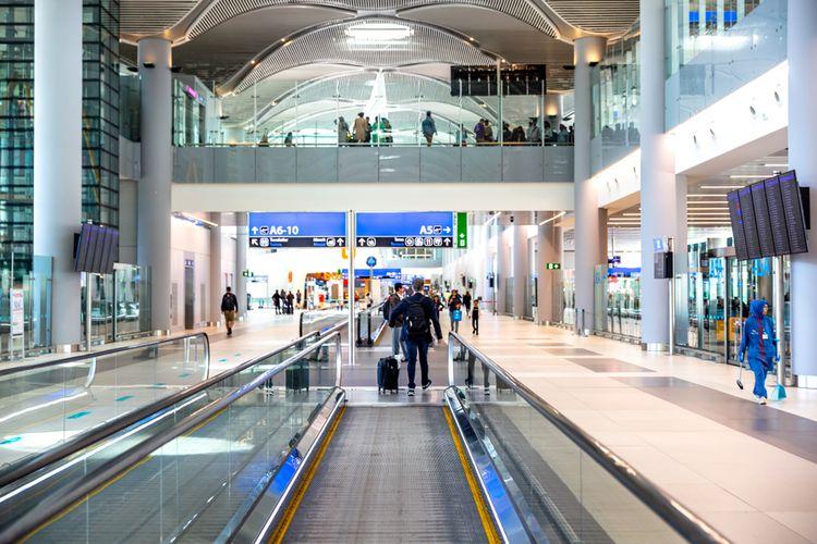 Ilustrasi bandara Istanbul, Turki.