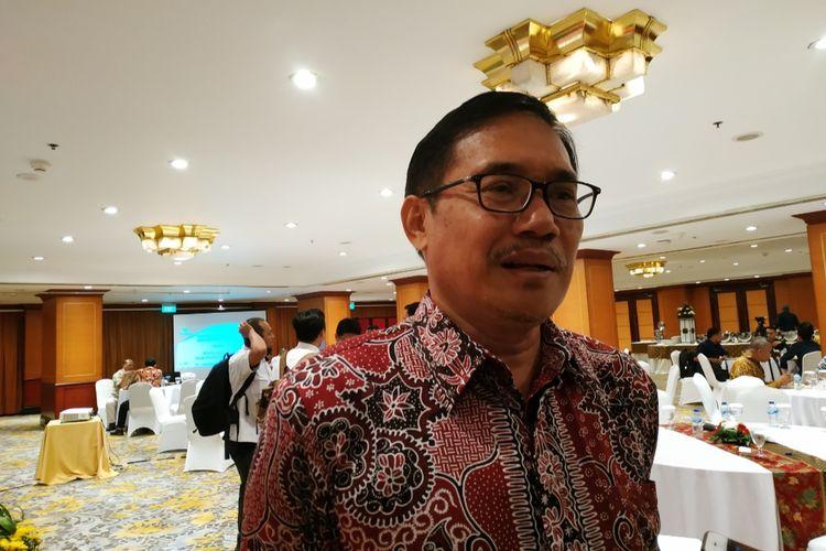 Plt Ketua BPIP, Hariyono, usai memberikan materi penguatan nilai Pancasila untuk penceramah dan pengajar di Hotel Borobudur, Gambir, Jakarta Pusat, Senin (18/11/2019).