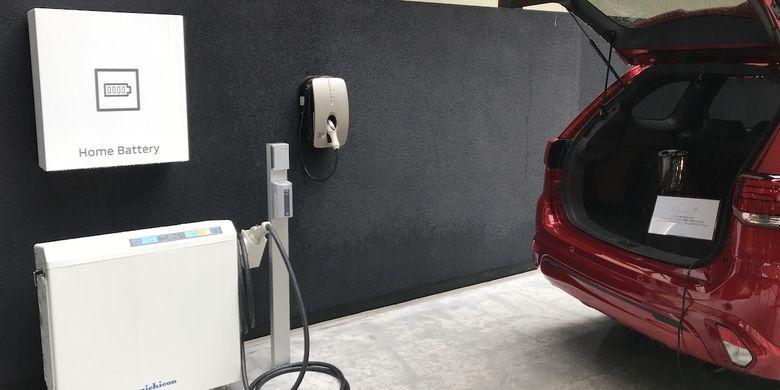 DDH mama mengelola sistem cas baterai memanfaatkan panel surya, kemudian juga mamou menyalurkan kembali dari baterai kendaraan PHEV ke kebutuhan rumah tangga;