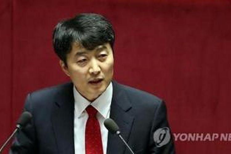 Anggota parlemen Lee Seok-ki yang dituduh hendak menggulingkan pemerintahan Korea Selatan.