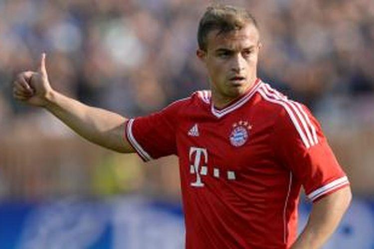 Gelandang Bayern Muenchen, Xherdan Shaqiri, dikabarkan diincar Liverpool.