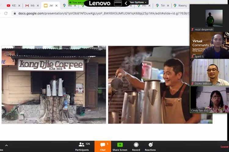 Wisata virtual kopi Ngabuburit wisata kopi yang diselenggarakan Kemenparekraf, Jumat (8/5/2020)