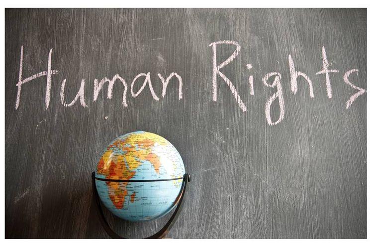 Ilustrasi hak asasi manusia.