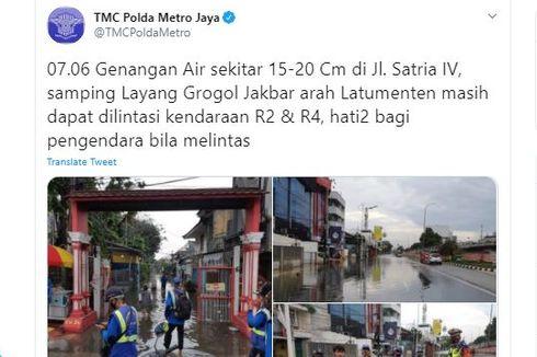 [UPDATE] 23 Jalan di Jakarta Barat yang Masih Terendam pada Selasa Pagi