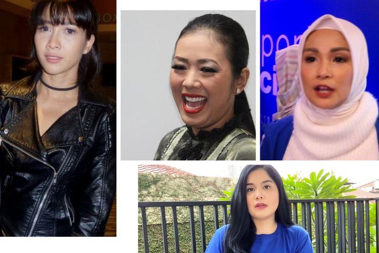 Kolase foto Andrea Dian, Soimah, Soraya Larasati, dan Annisa Pohan