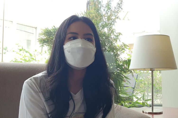 Aktris Maudy Ayunda saat ditemui di XXI Epicentrum, Kuningan, Jakarta Selatan, Kamis, (23/9/2021).