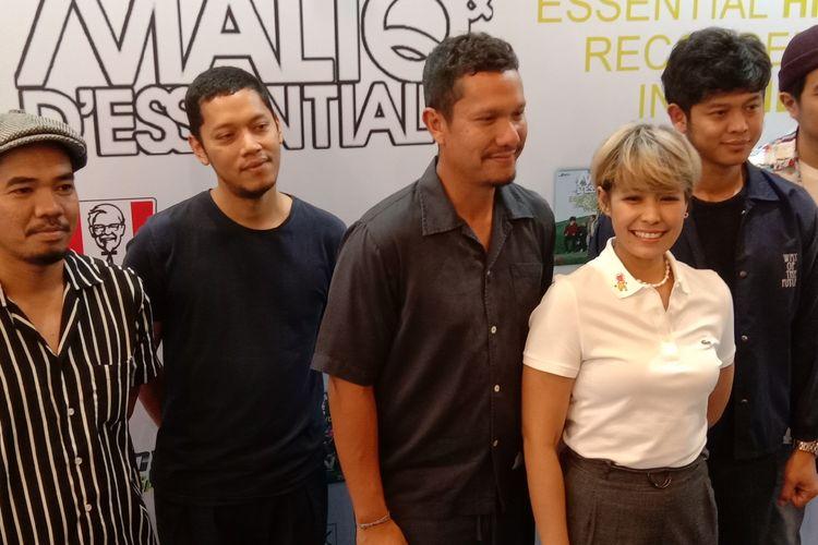 MALIQ & DEssentials dalam jumpa pers di Kemang Raya, Jakarta Selatan, Rabu (11/9/2019).