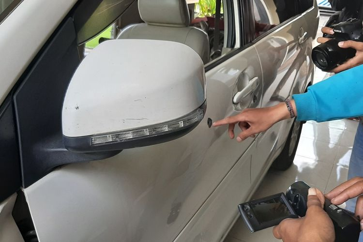 Mobil Pelaku Pencurian Traktor ditembak Polisi, Sat di Mapolres Bantul Senin (9/12/2019)
