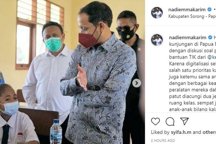 Mendikbud Nadiem Makarim kunjungan ke Papua Barat.