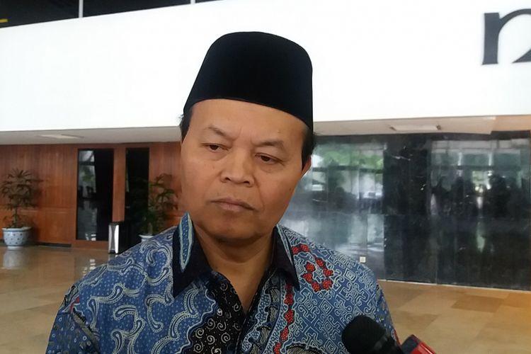 Wakil Ketua MPR RI Hidayat Nur Wahid di Kompleks Parlemen, Senayan, Jakarta, Jumat (27/10/2017).