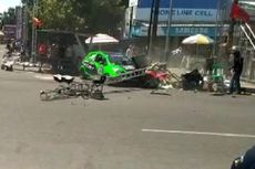 Tergelincir, Mobil Pembalap Kejurnas Auto Gymkhana di Tegal Tabrak Juru Kamera