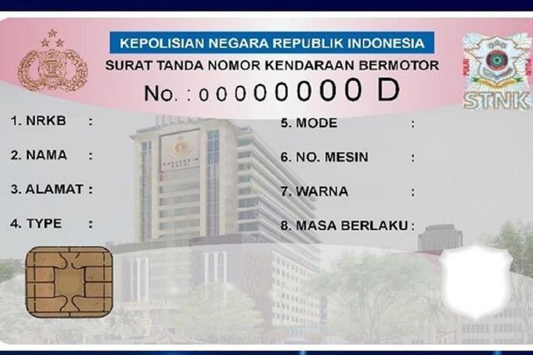 Ilustrasi STNK model baru yang disebut akan berubah menjadi kartu