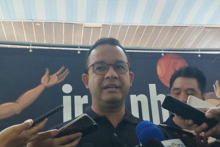 Gubernur DKI Jakarta Anies Baswedan di GOR Ciracas, Jakarta Timur, Selasa (22/1/2019).