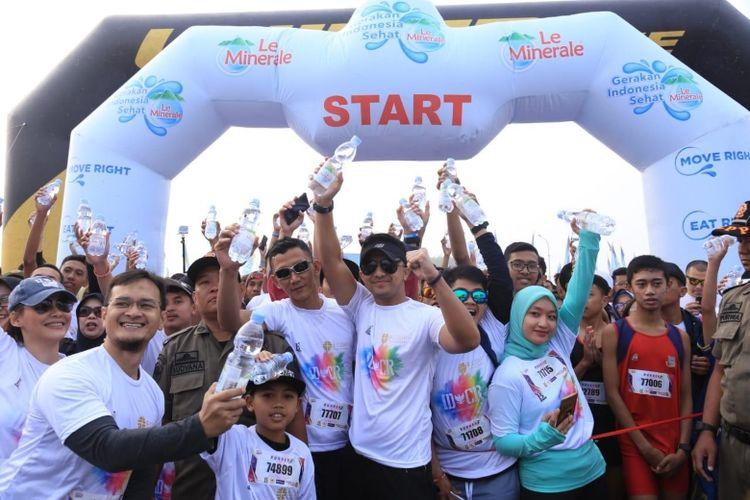 Bpk Hengky Kurniawan selaku Wakil Bupati Bandung Barat turut serta membuka Indonesia Color Run 2019 di Bandung Barat